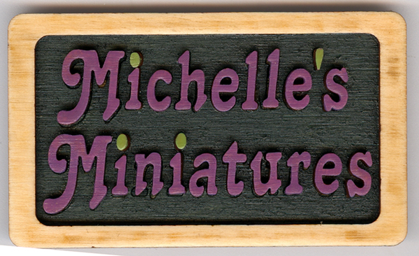 Wood Framed Name Tag